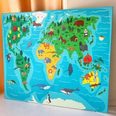 Крышка белая и игровое поле (город, зоопарк, карта мира)
