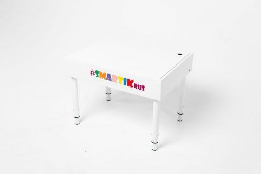 Световая песочница SMARTIK с белой крышкой на весь стол