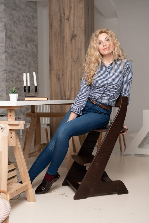 Растущий стул для ребенка деревянный SMARTIK