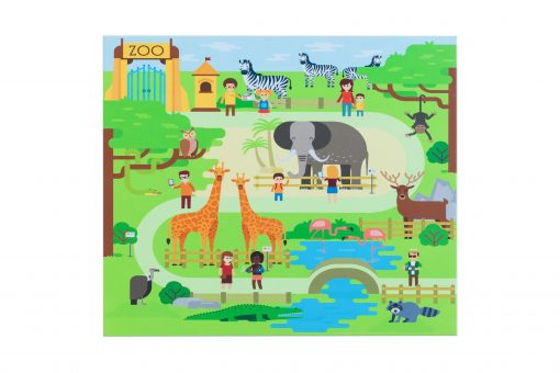 """Световая песочница SMARTIK с грифельной крышкой на весь стол и игровым полем """"зоопарк"""""""