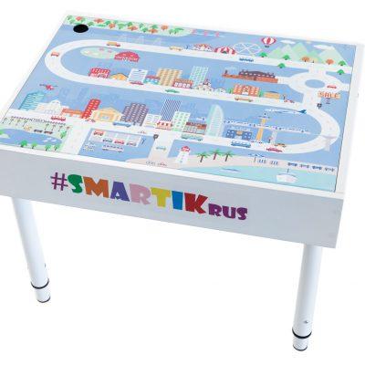 """Световая песочница SMARTIK с крышкой на весь стол и игровым полем """"город"""""""